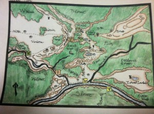 Map of Hirok-Nor the slayers purchased a while ago.