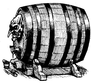 Giant Hogshead with troll-face