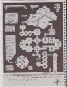 The vault map with each door