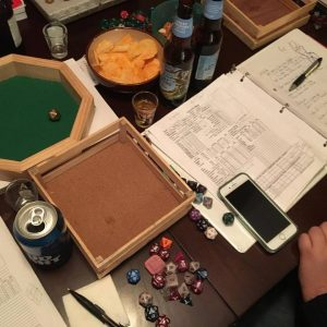 A chaotic session of actual play