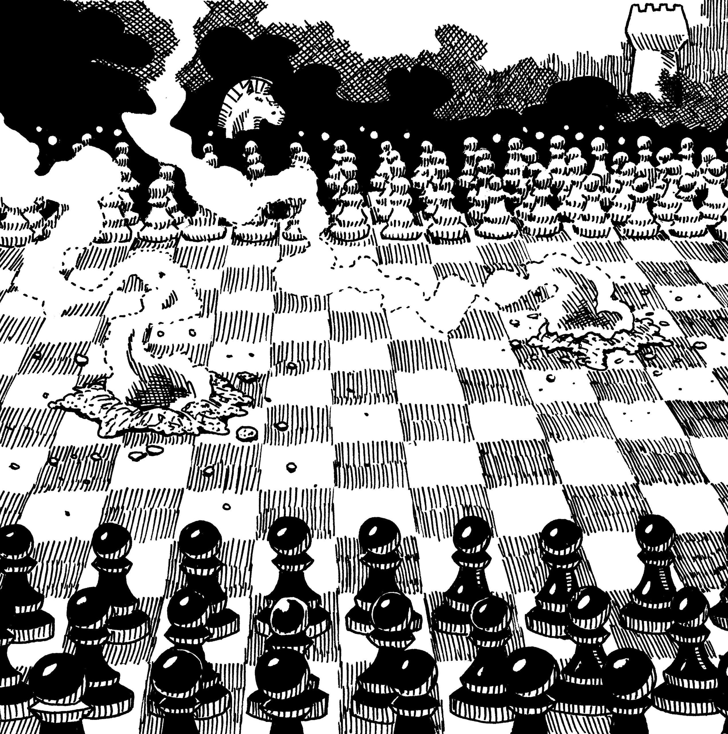 Chess War Set-Piece